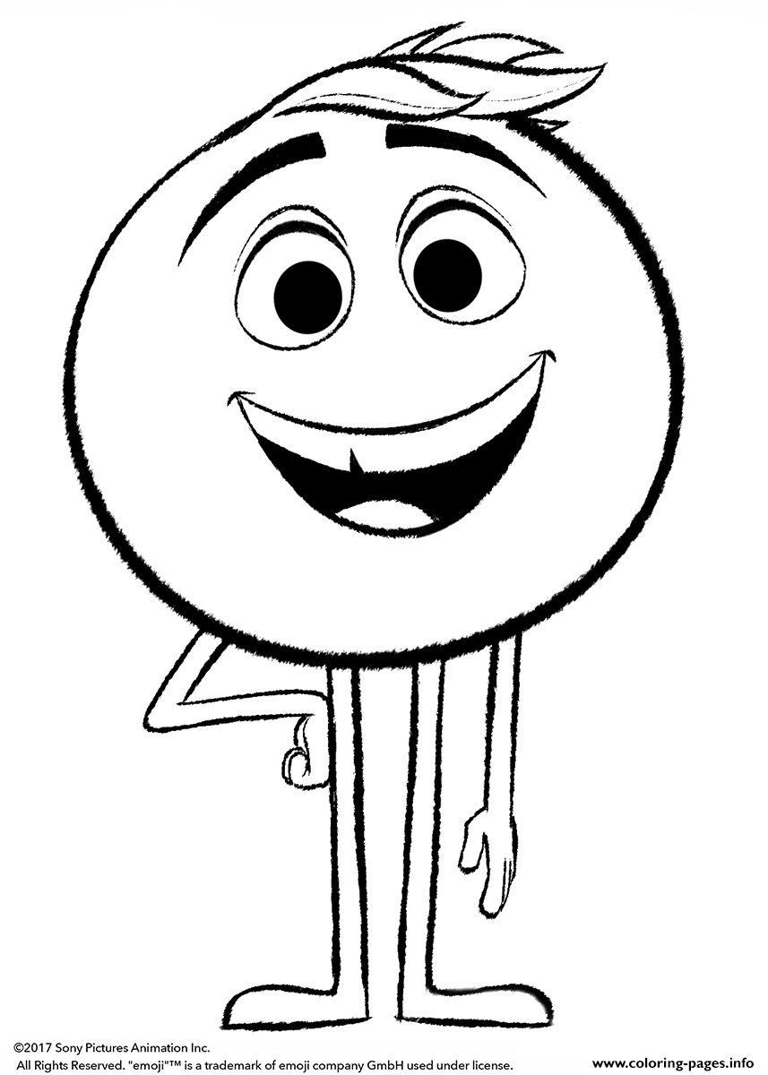 free emoji coloring pages - photo#18