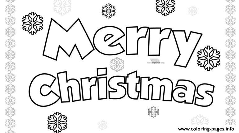 - Merry Christmas Simple Easy Coloring Pages Printable
