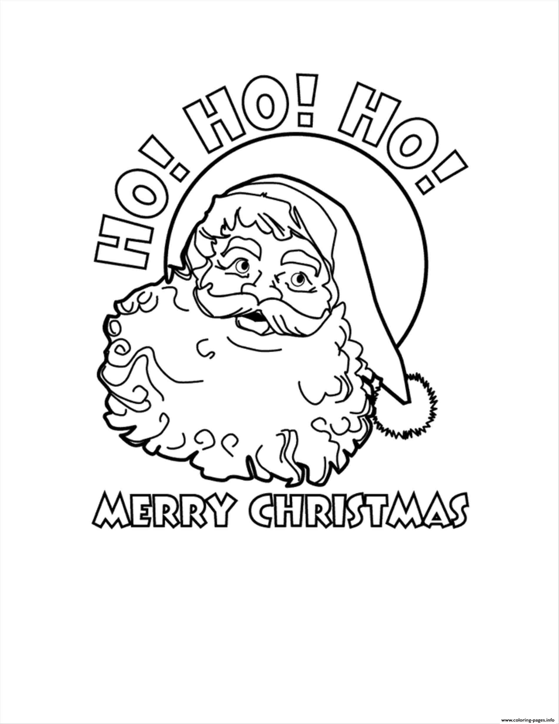 Santa Claus Ho Ho Ho Merry Christmas Coloring Pages Printable