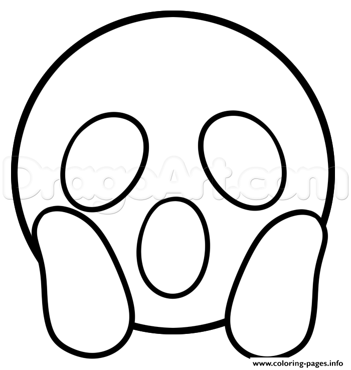 surprised emoji to color coloring pages