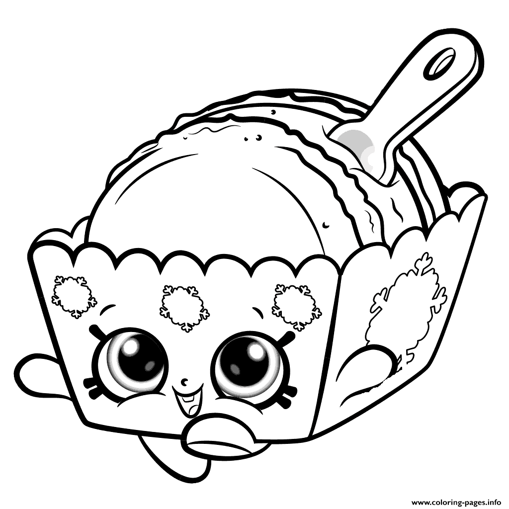 Melty Macaron Cute Shopkins Season 8 Coloring Pages Printable