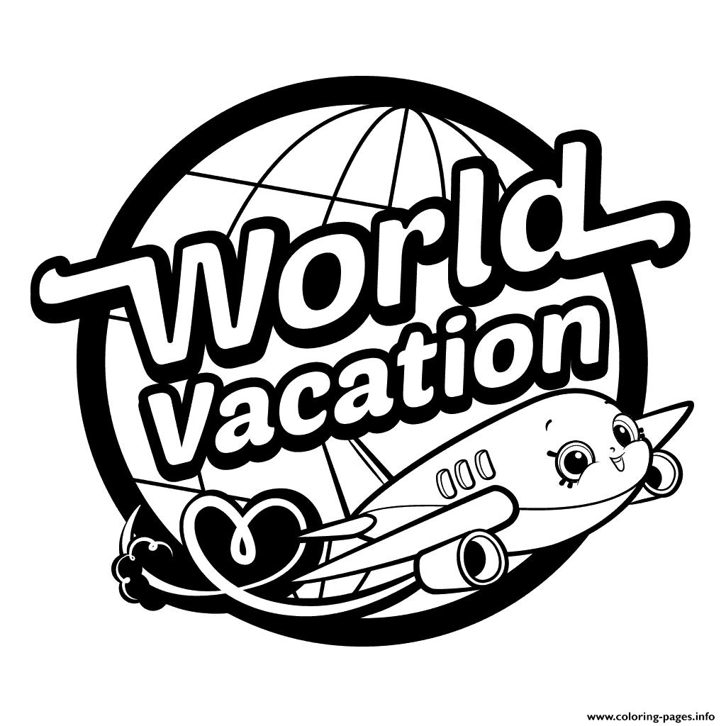 Shopkins World Vacation Logo Season 8 Coloring Pages Printable