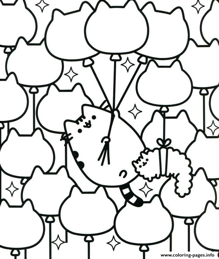 Easy Pusheen For Toddlers coloring pages