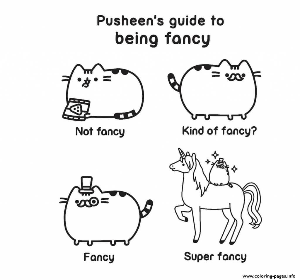 Pusheen Guide Fancy Kind Of Fancy