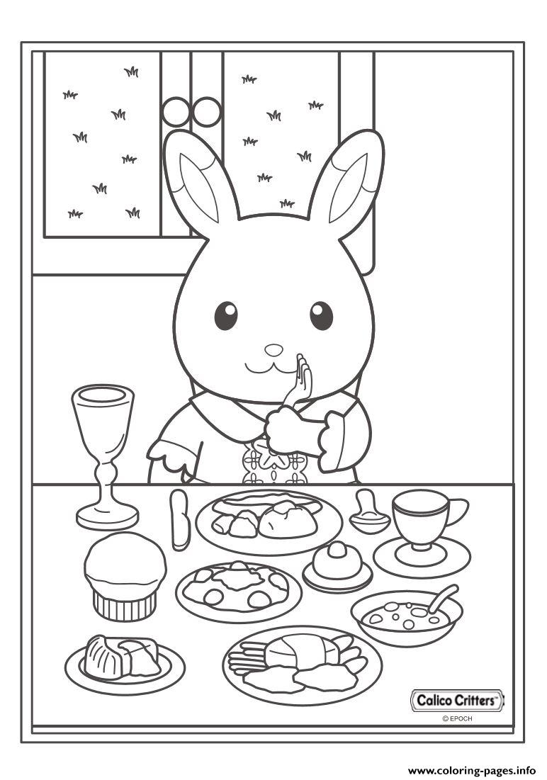 Carlico Critters Breakfest Food Coffee coloring pages