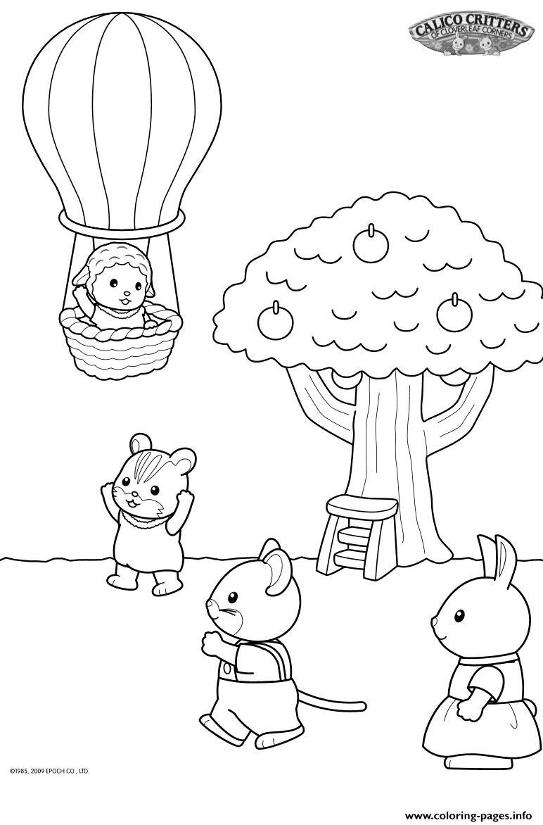 Carlico Critters Sylvanian Familys Apple Tree Coloring Pages Printable