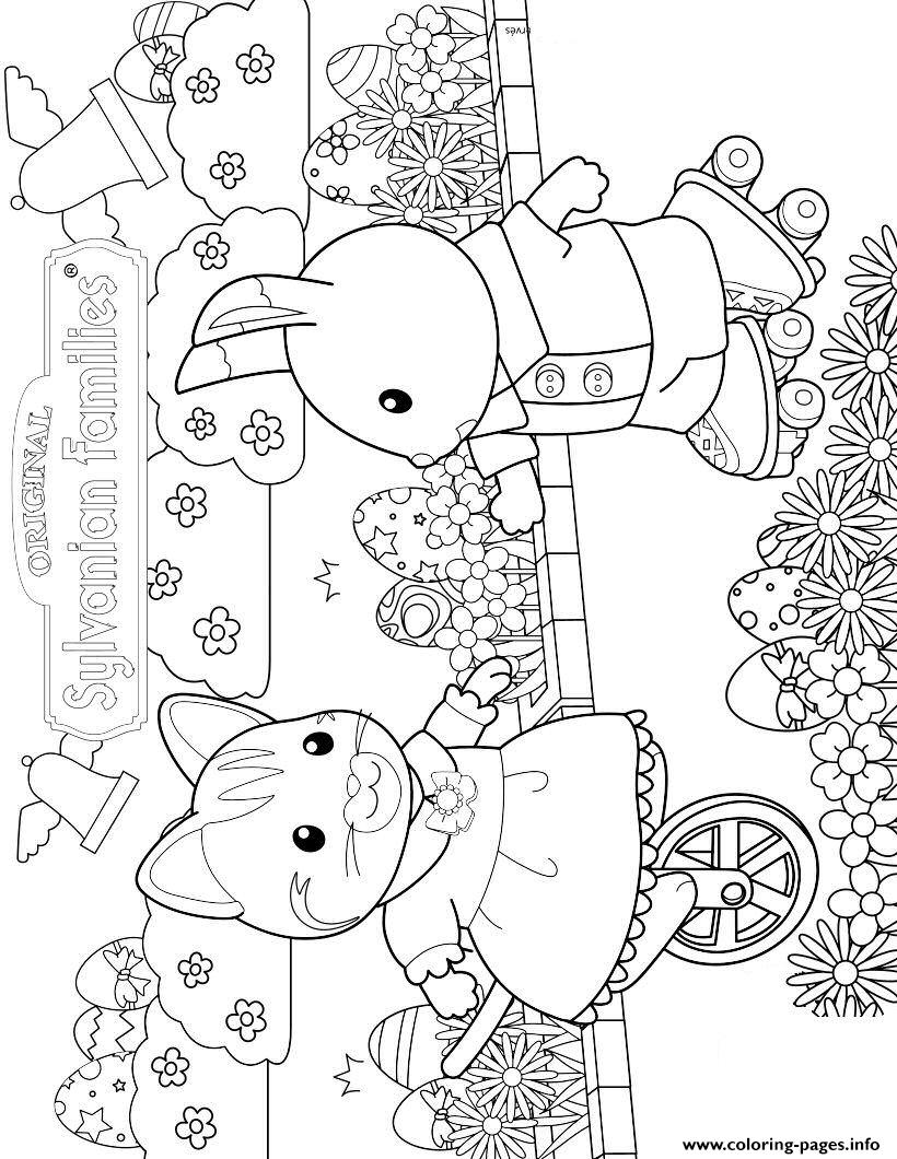 Sylvanian Familys Carlico Critters Easter coloring pages