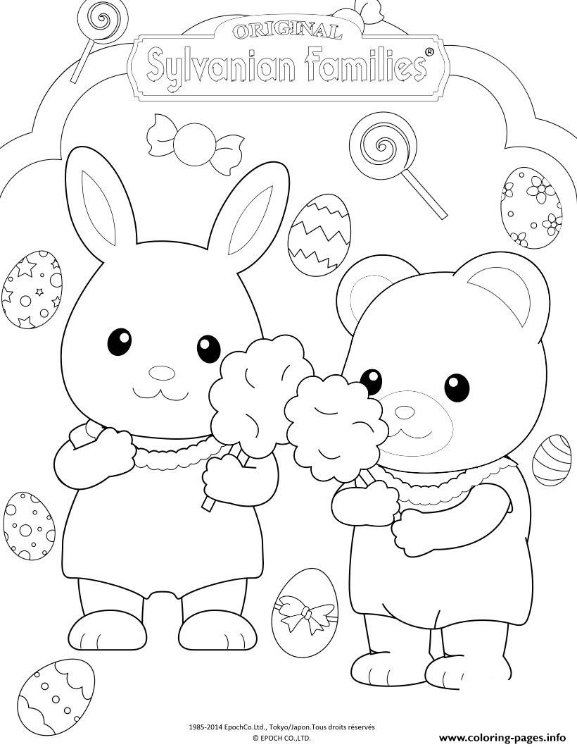 The Sylvanian Families Celebrate Easter Coloring Pages