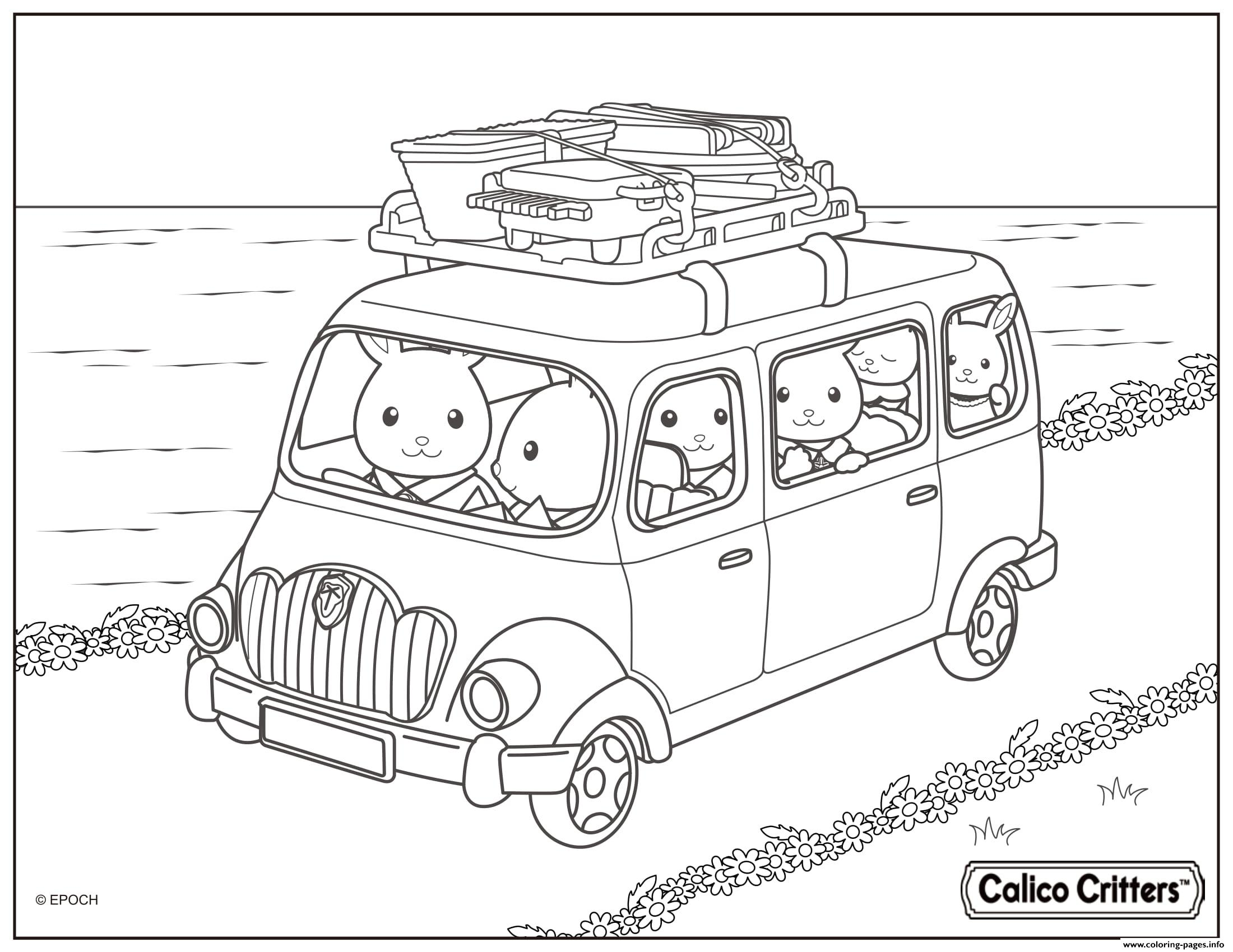 Calico Critters All The Family Travel Coloring Pages Printable