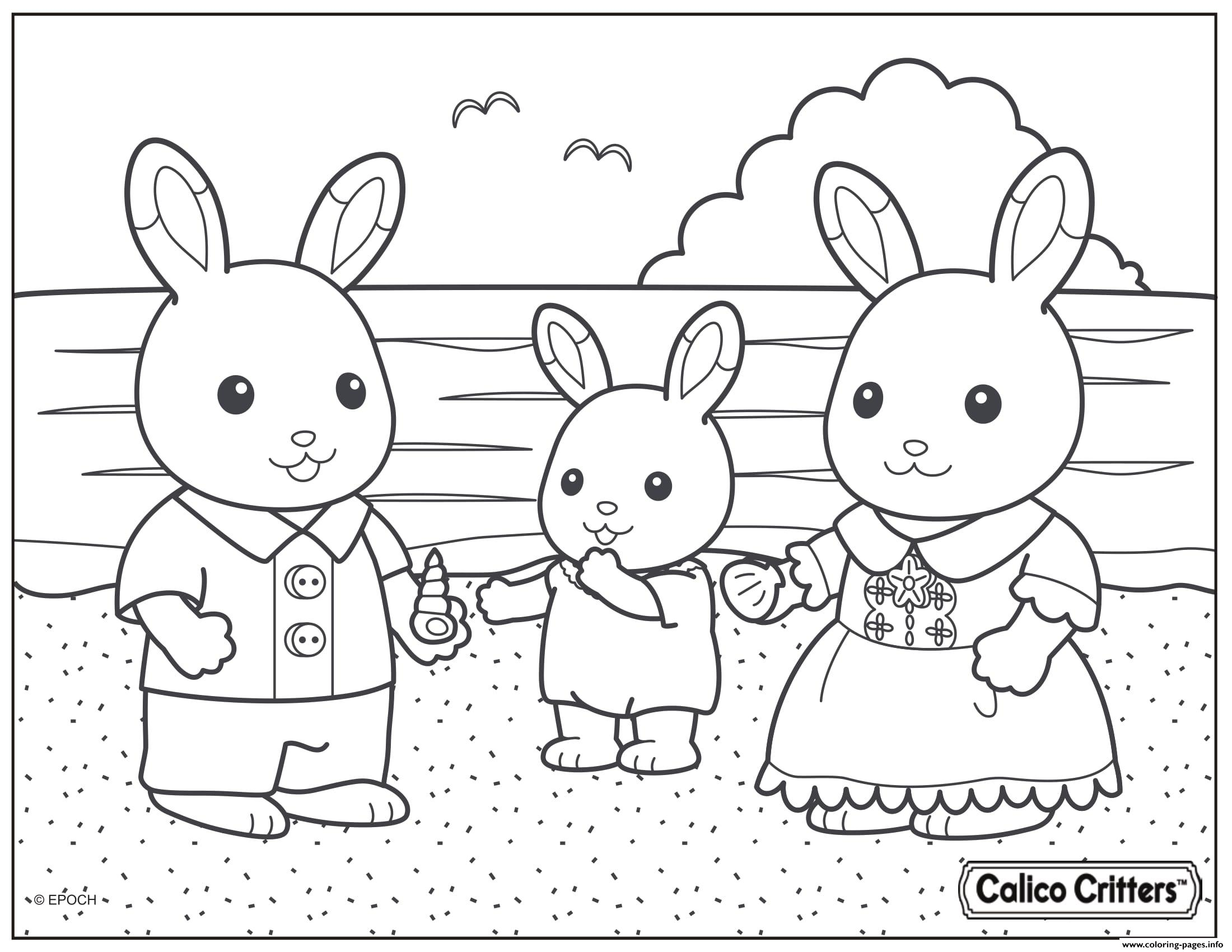 Calico Critters Beach Shell Coloring