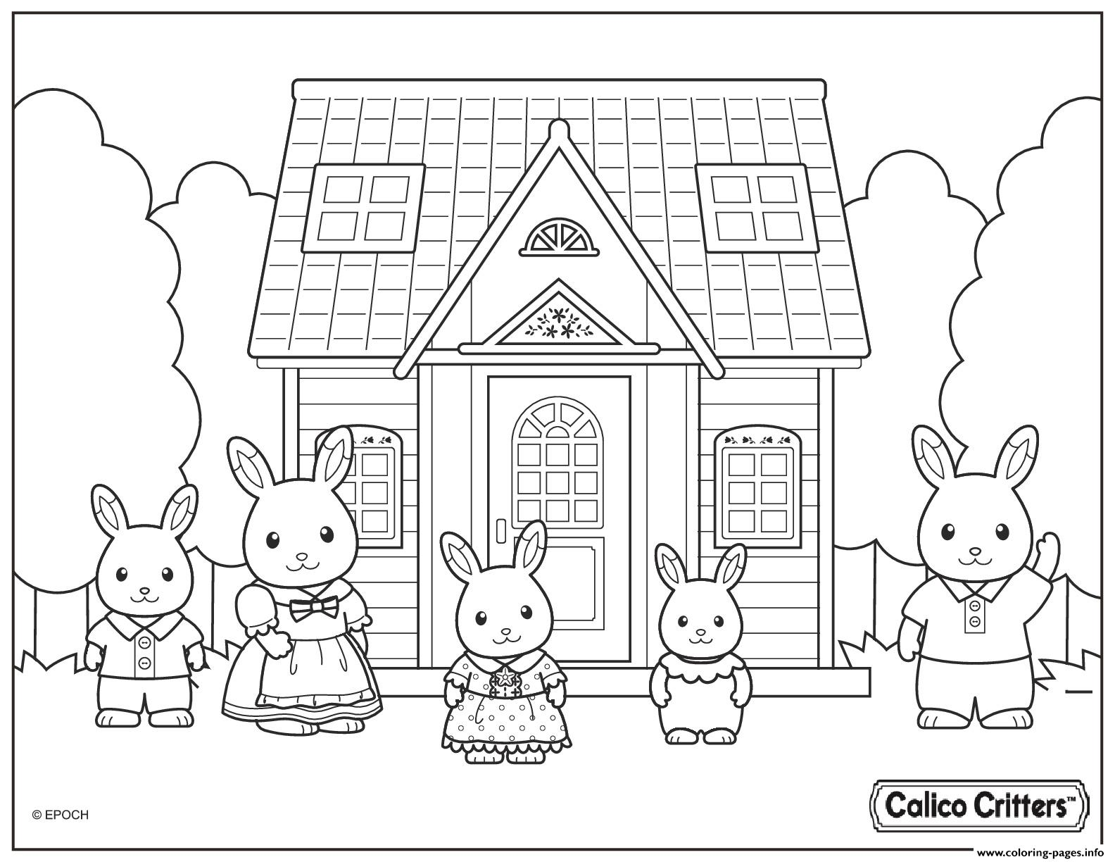 calico critters cute family coloring pages - Family Coloring Pages