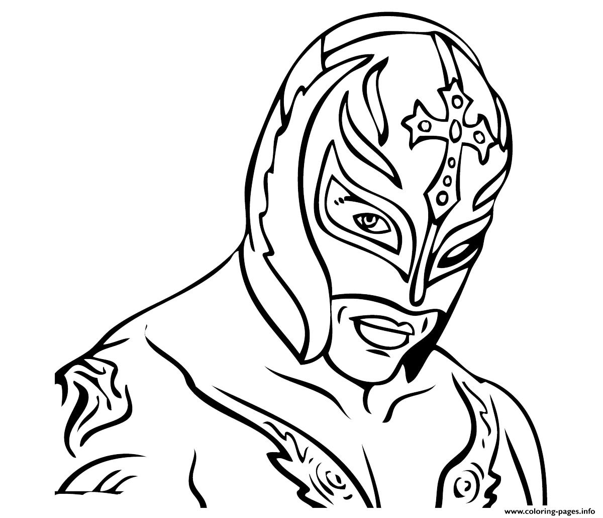 Rey Mysterio Wwe Coloring Pages Printable