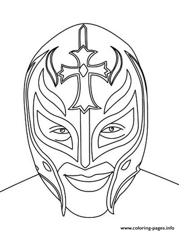 Rey mysterio mask face coloring pages printable for Rey mysterio mask coloring pages