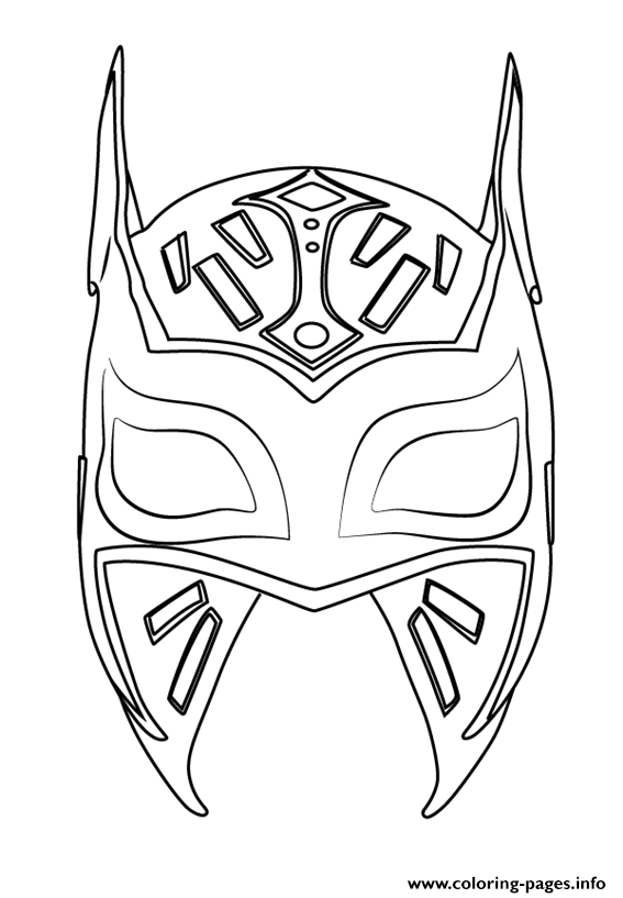 Sin cara mask free colouring pages for Wwe rey mysterio mask coloring pages