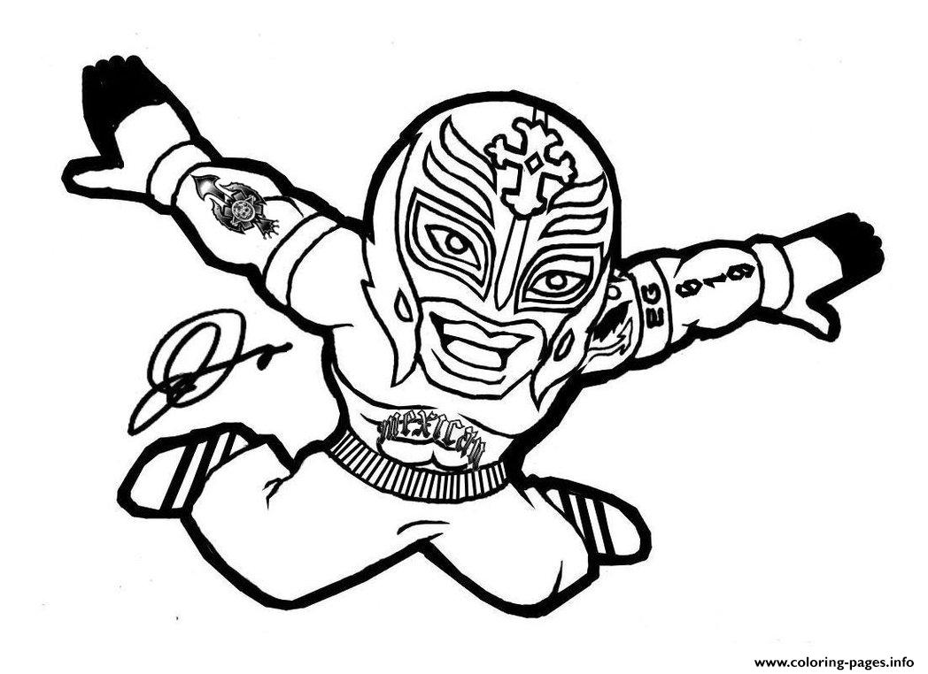 Wwe Rey Mysterio Mask  coloring pages