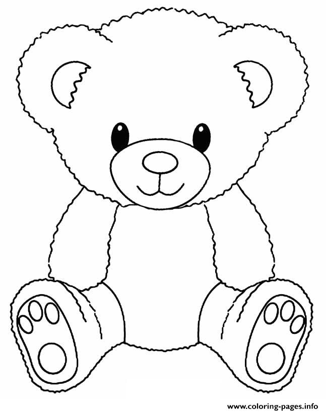 Teddy Bear Easy Coloring Pages Printable