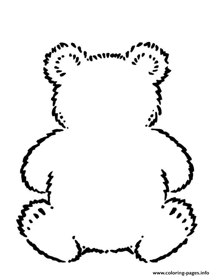 Build A Little Bear Coloring Pages Printable