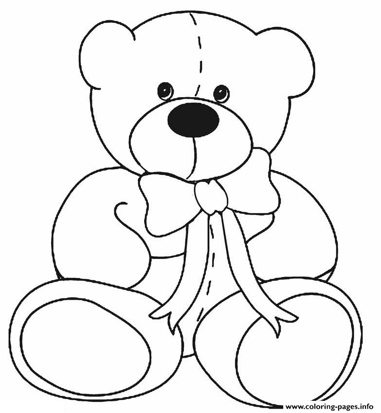 Classic Teddy Bear coloring pages