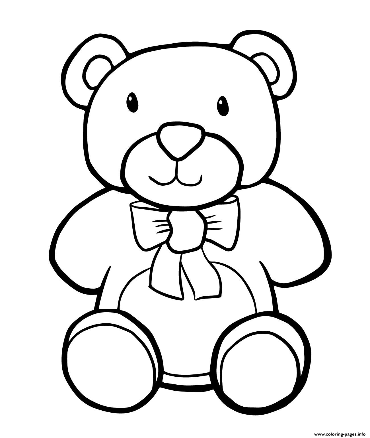 - Teddy Bear Simple Kids Coloring Pages Printable