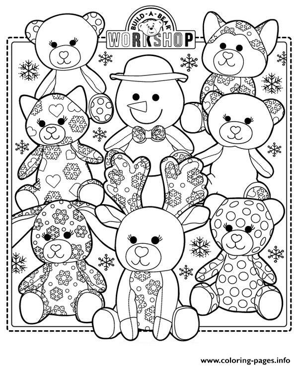 Build A Bear Coloring Pages Printable