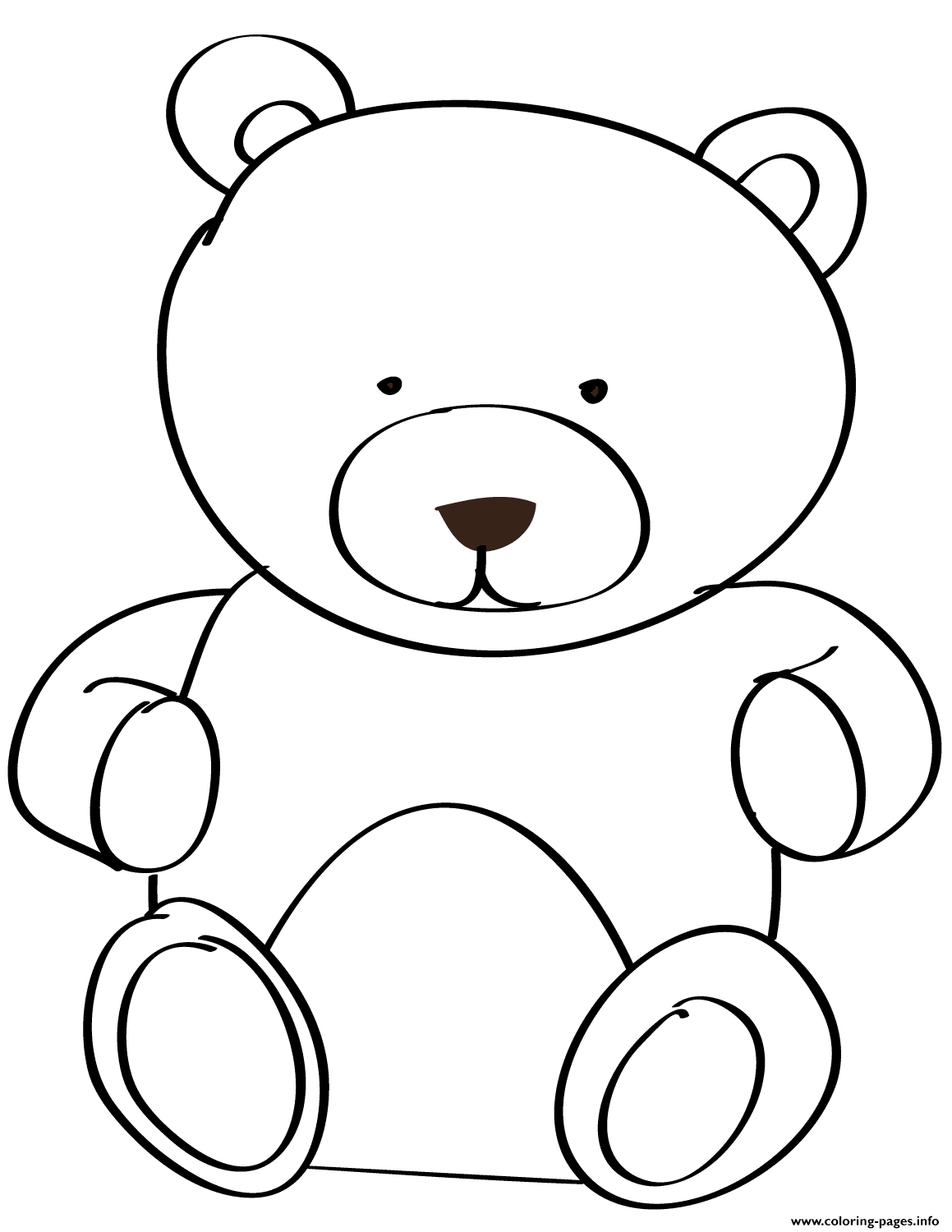 Teddy Bear For Kid coloring pages