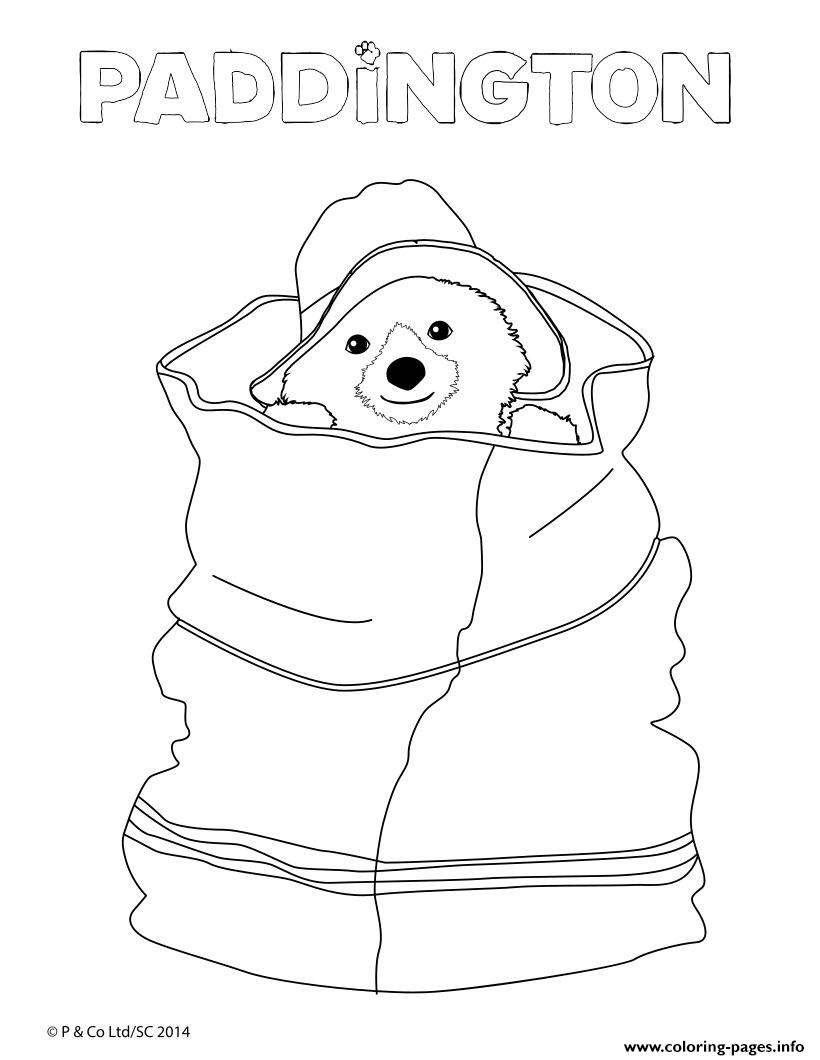 Paddington Hidden In A Bag Coloring Pages Printable
