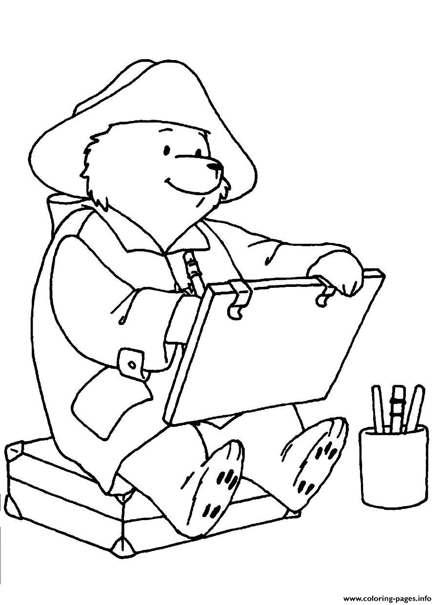 Paddington Bear Painting Coloring Pages Printable