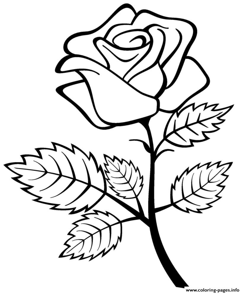 Beautiful Roses For Valentines Day coloring pages