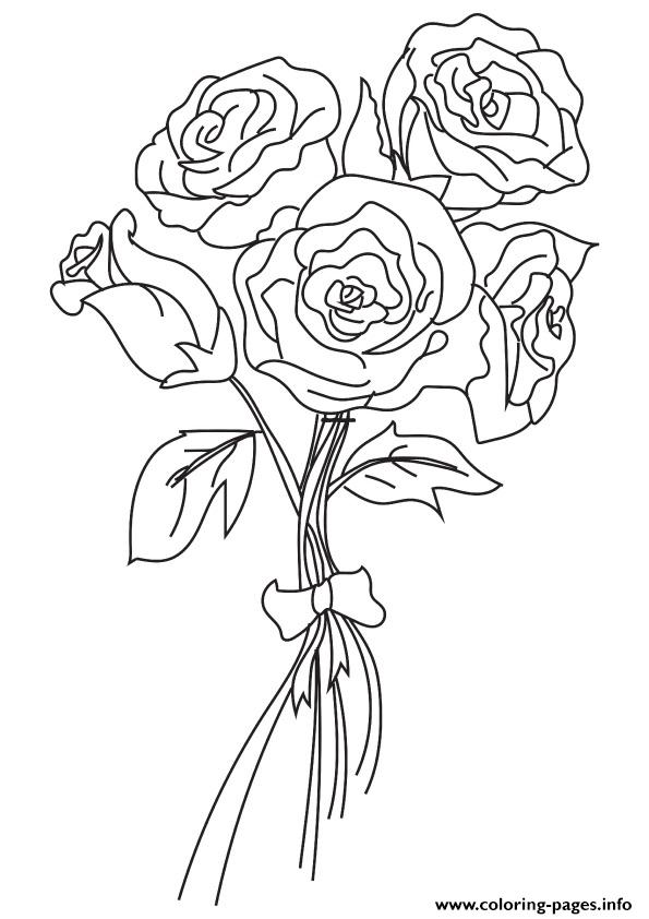 The Bunch Of Roses 16 A4 coloring pages