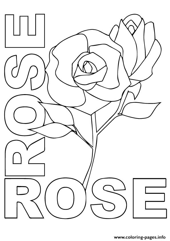 R Rosas A4 coloring pages