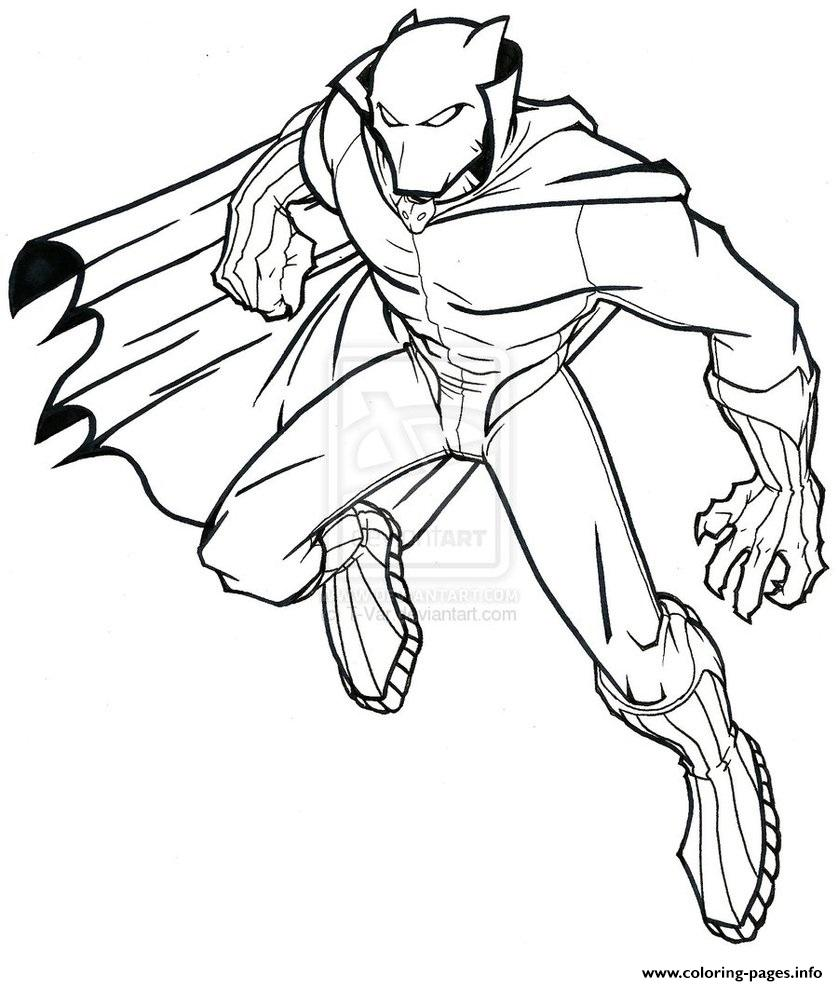 black panther marvel coloring pages Black Panther Superheroes Marvel Coloring Pages Printable black panther marvel coloring pages