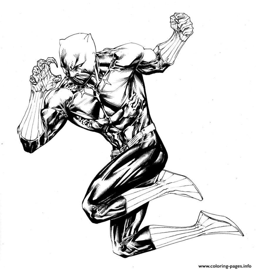 Fighting Black Panther By Spiderguile Coloring Pages Printable