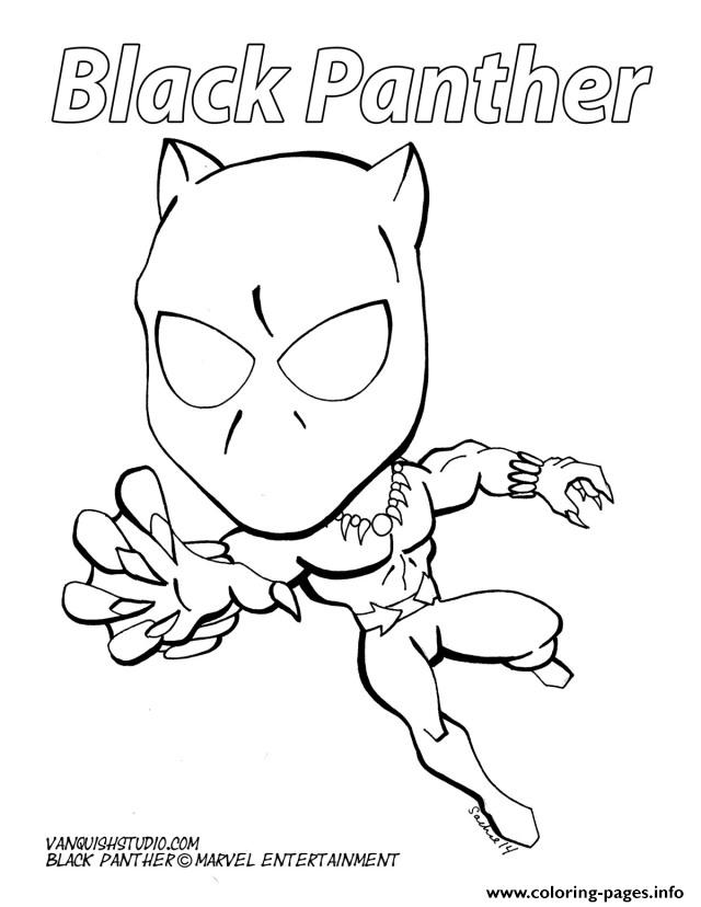 Cartoon Black Panther Marvel Coloring Pages Printable