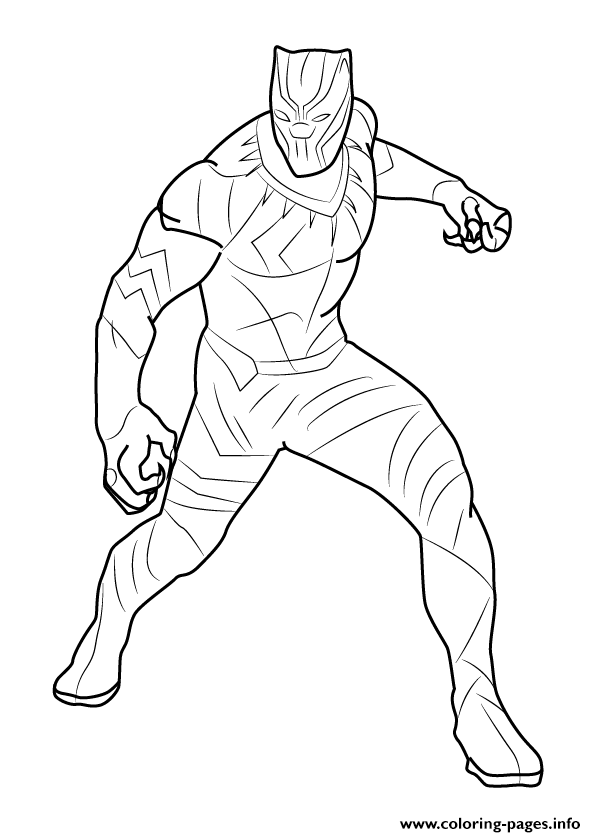 how to draw black panther coloring pages - Black Panther Coloring Pages