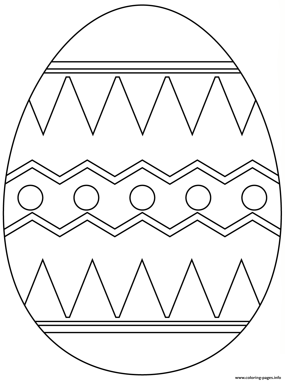 Easter Egg With Abstract Pattern 5 coloring pages