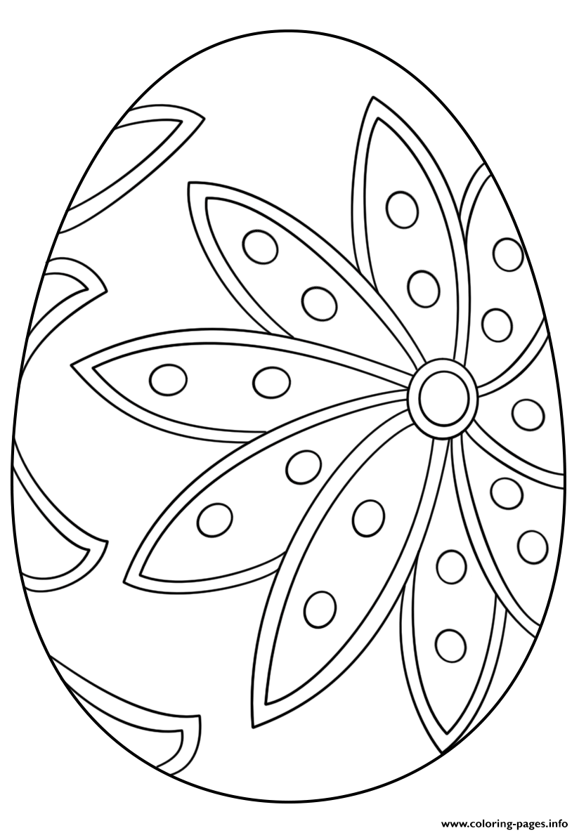 - Fancy Easter Egg Coloring Pages Printable