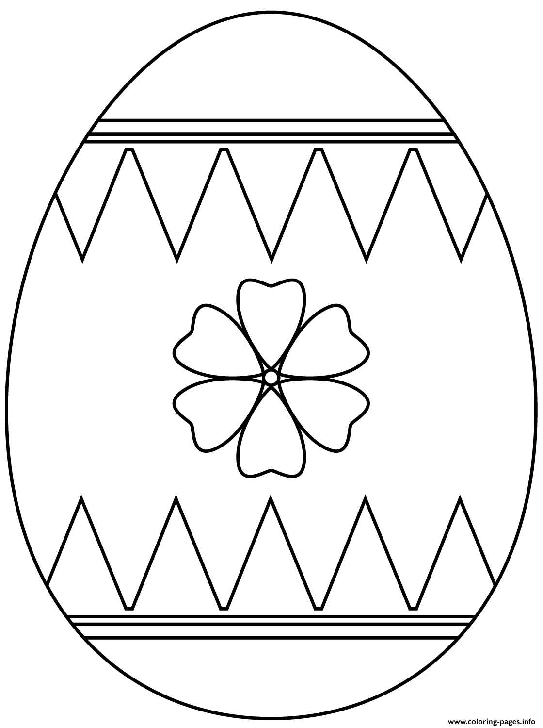 Easter Egg With Flower coloring pages