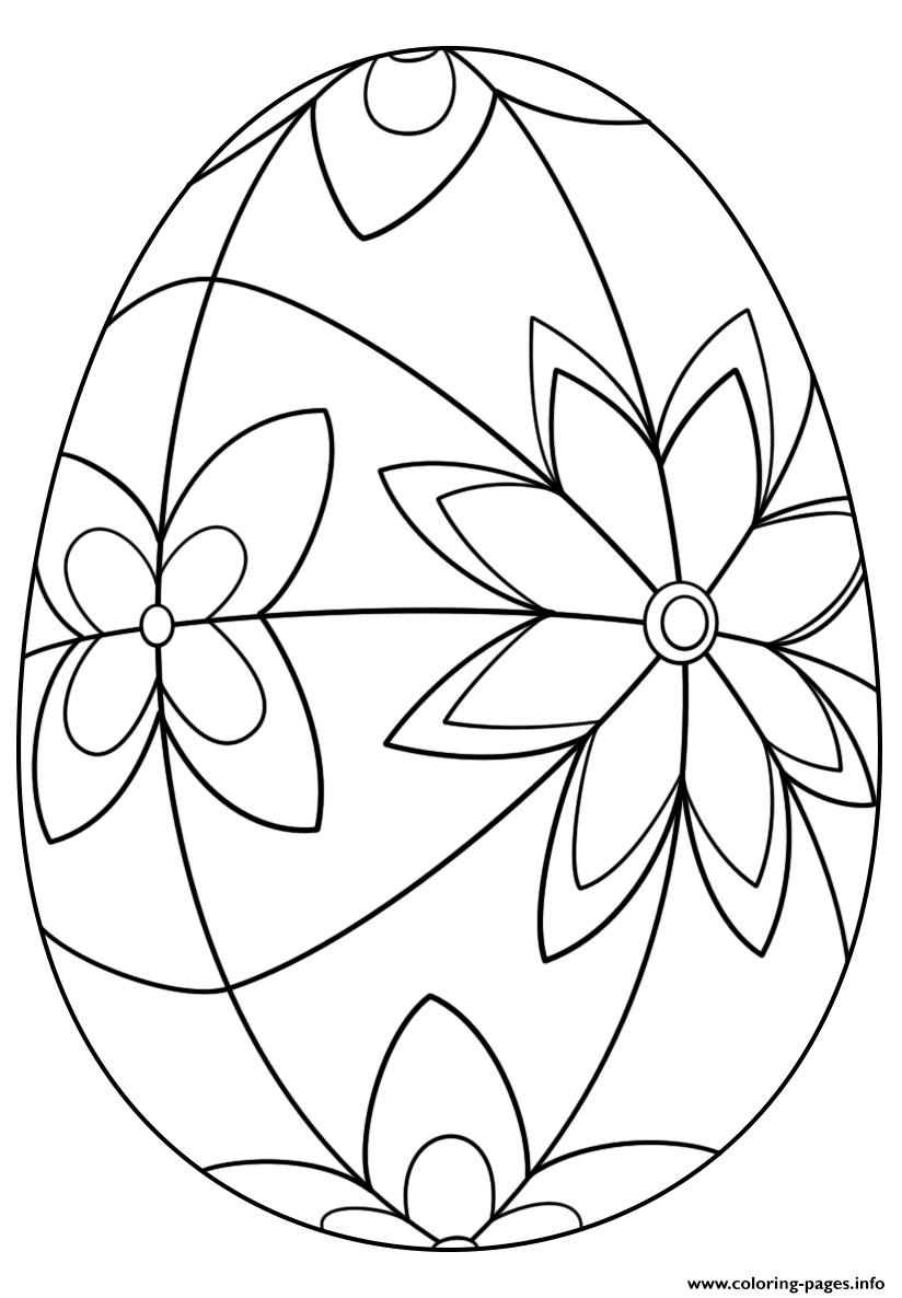 Detailed Easter Egg Coloring Pages Printable