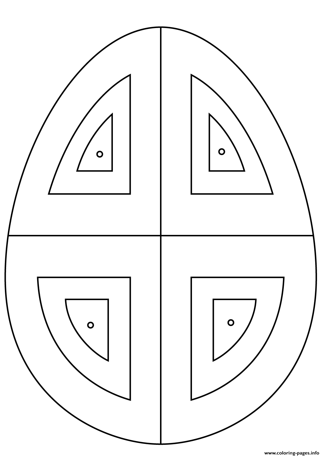 Easter Egg With Abstract Pattern Coloring Pages Printable