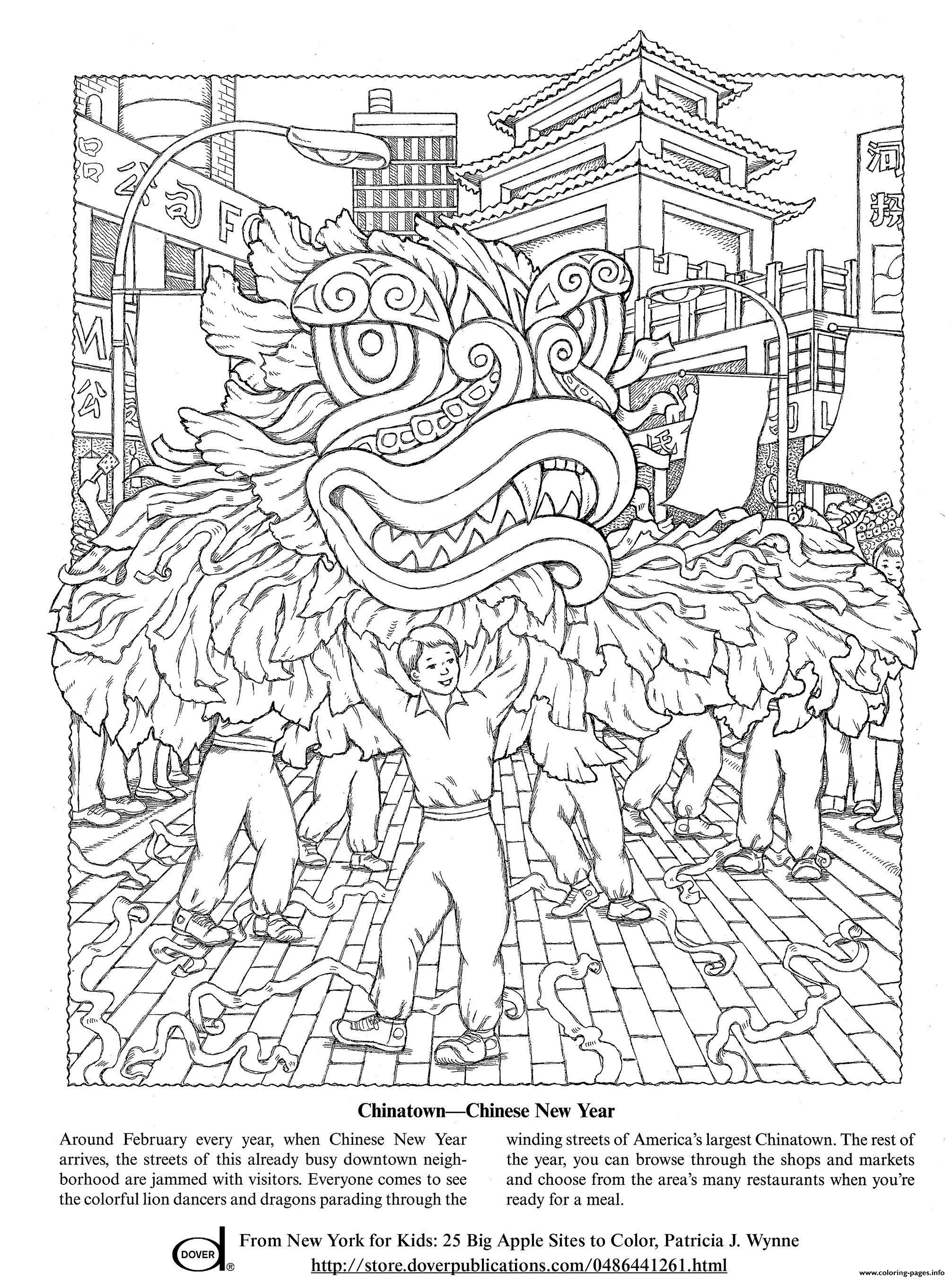 - Celebrate Chinese New Year Coloring Pages Printable
