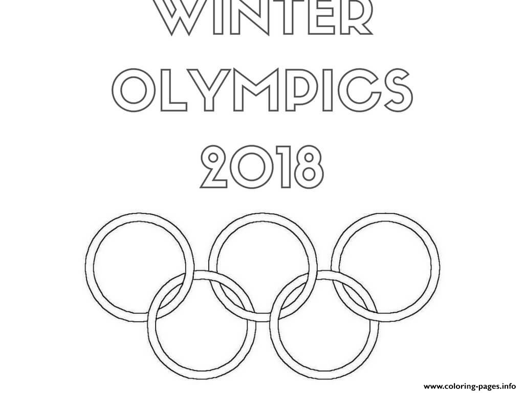 Winter Olympics 11 Logo Coloring Pages Printable