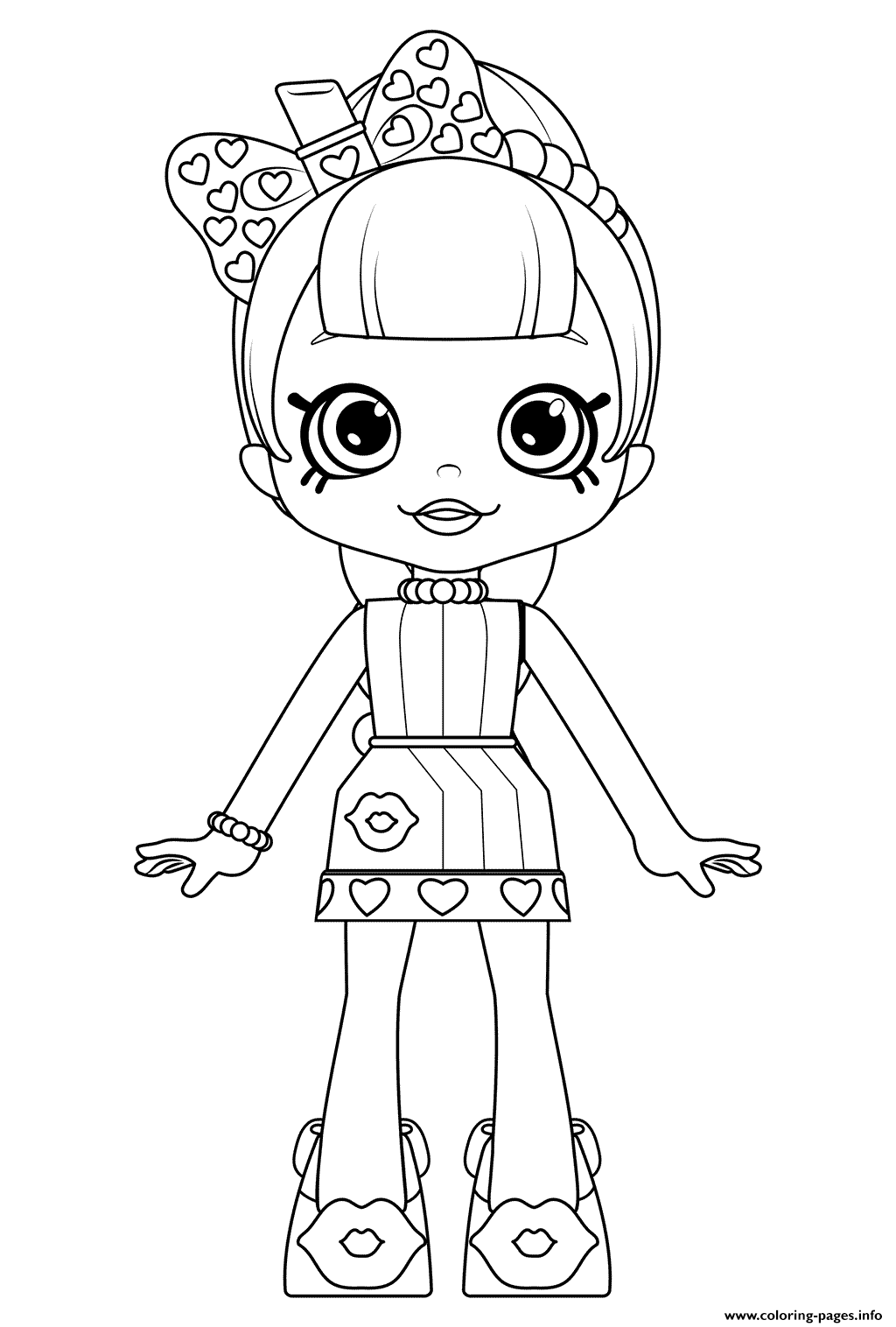 Cute shoppies doll lippy lulu coloring coloring pages printable