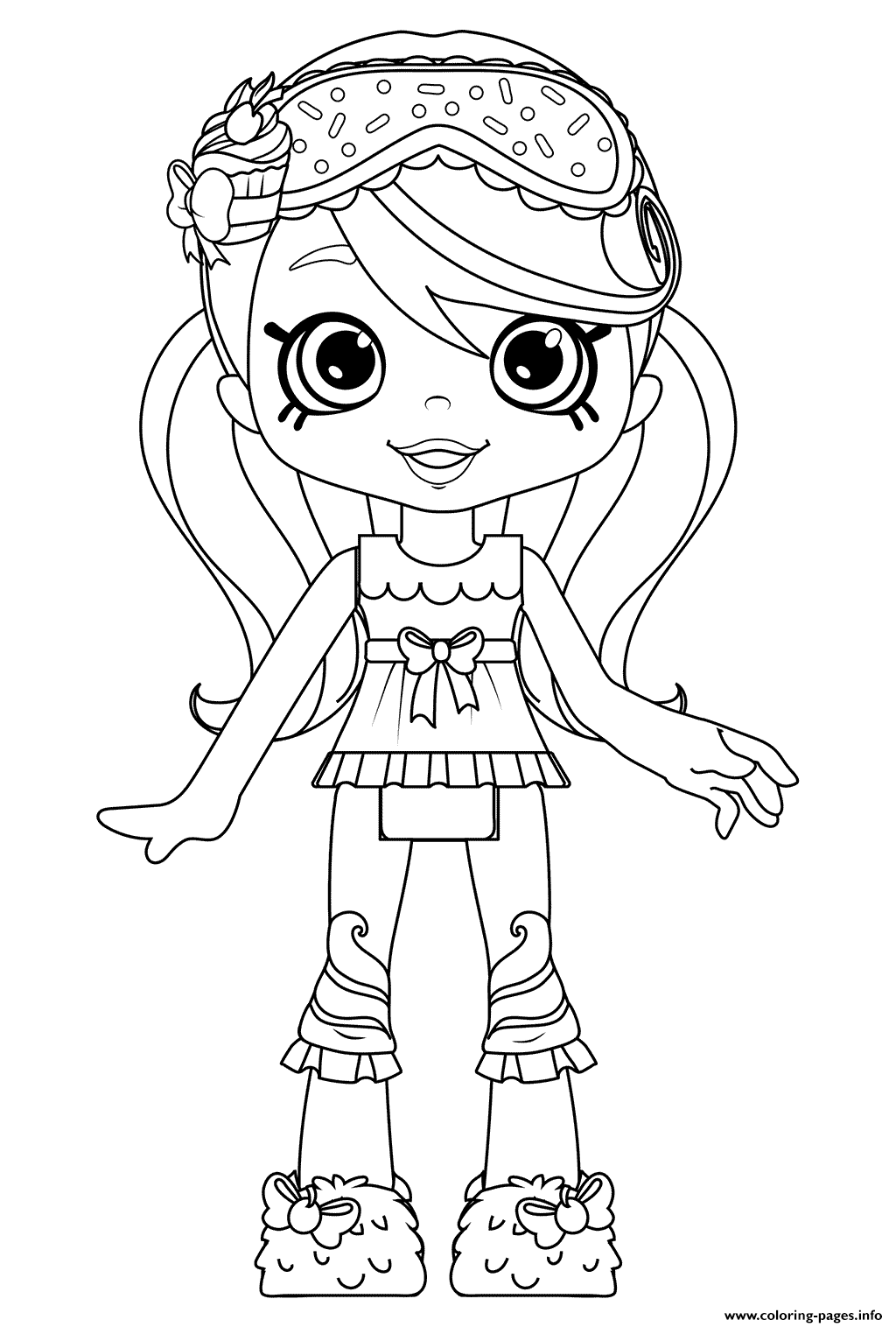 Jessicake Original Shoppies Coloring Pages Printable