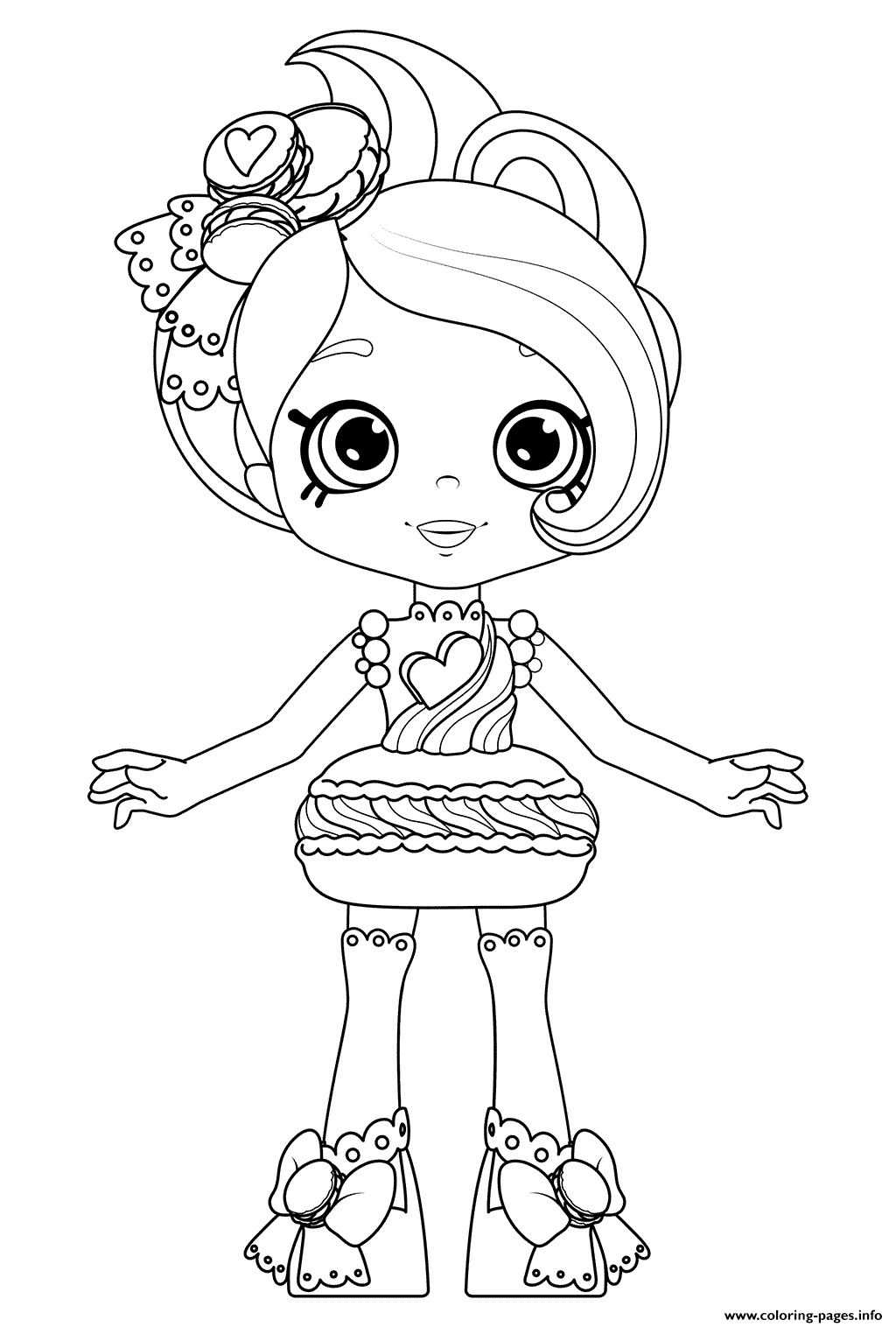 Macy Macaron From Happy Places Kitty Kitchen Print And Color Coloring Pages Printable