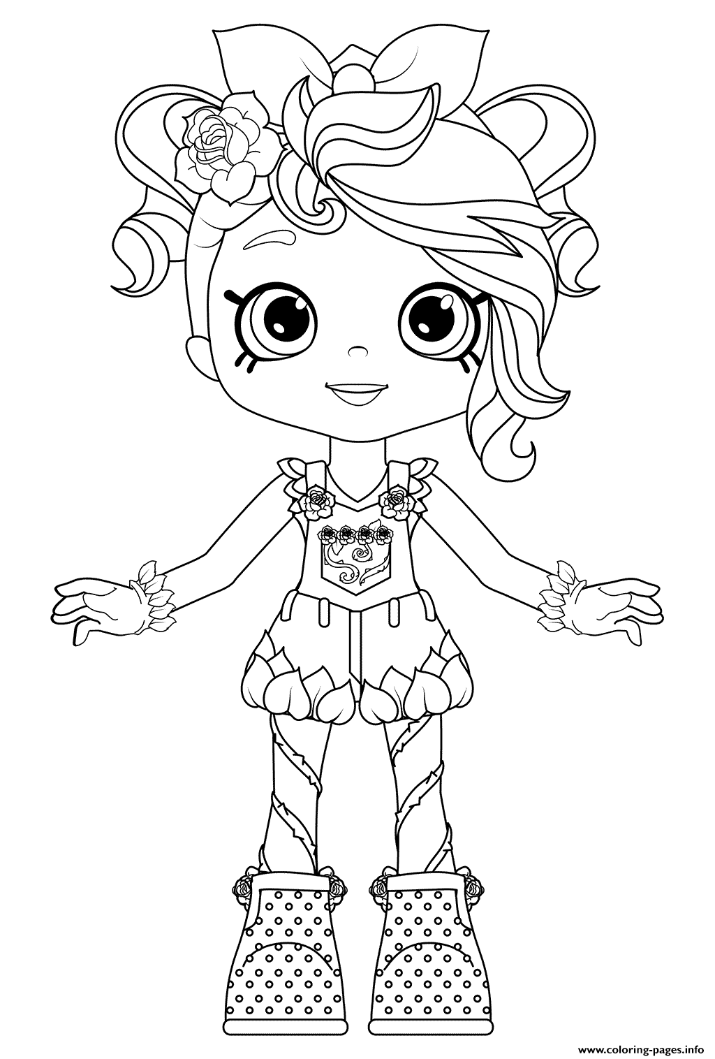 Rosie Bloom Colouring Page Coloring