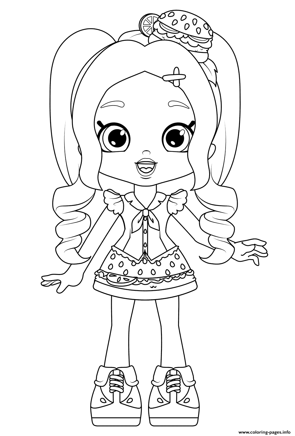 Chelsea Cheeseburger Coloring Pages Printable