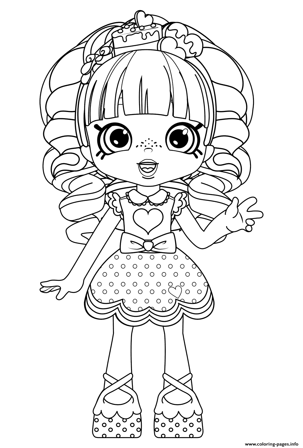 Rainbow Kate Shopkins Dolls Coloring Pages Printable