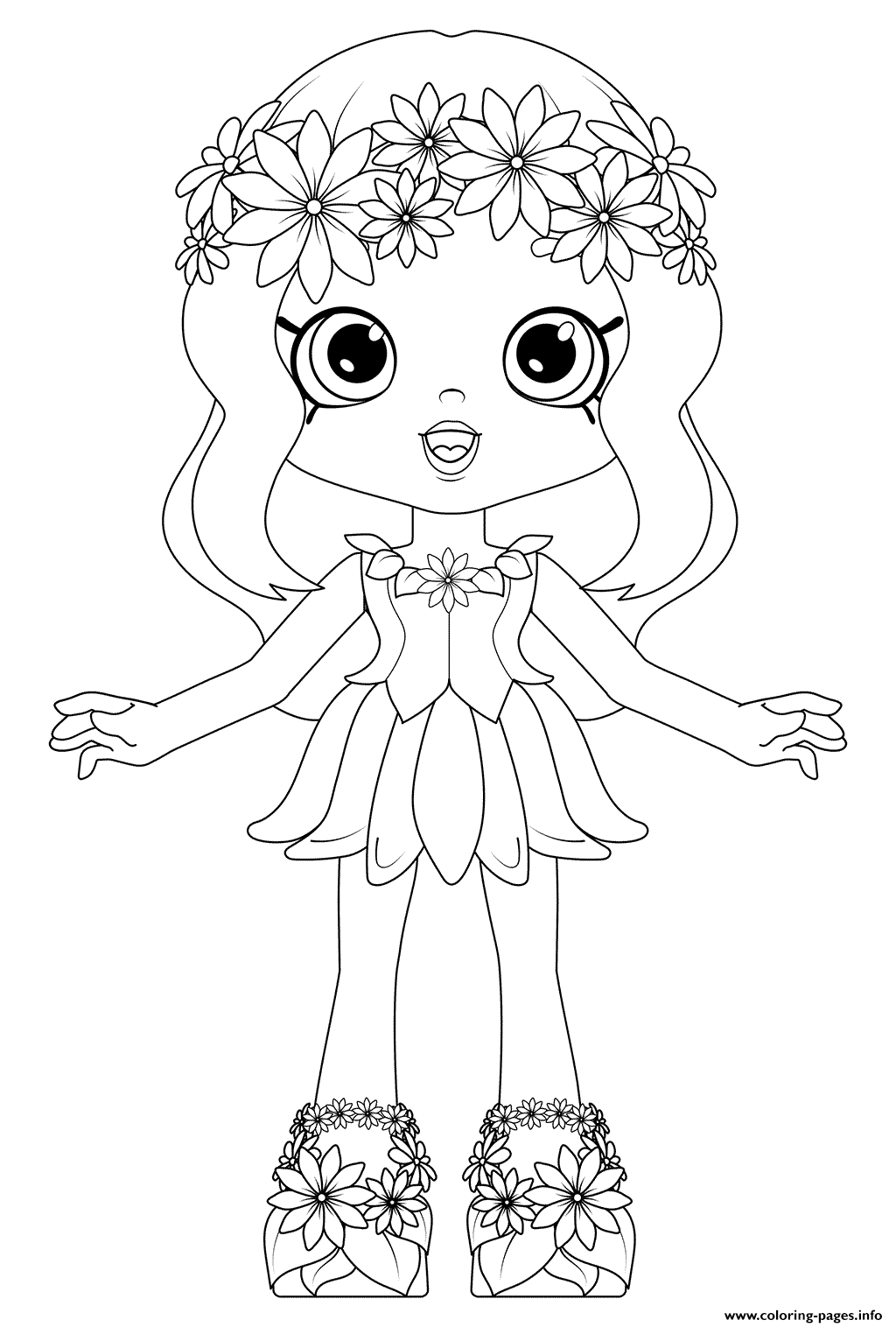 photo regarding Daisy Printable named Shoppies Dolls Daisy Petals Coloring Web pages Printable