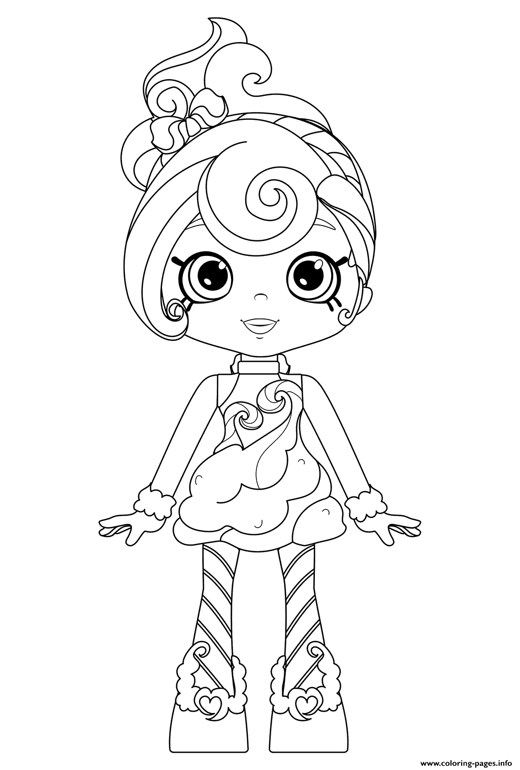 Candy Sweets Of Shoppies Coloring Pages Printable