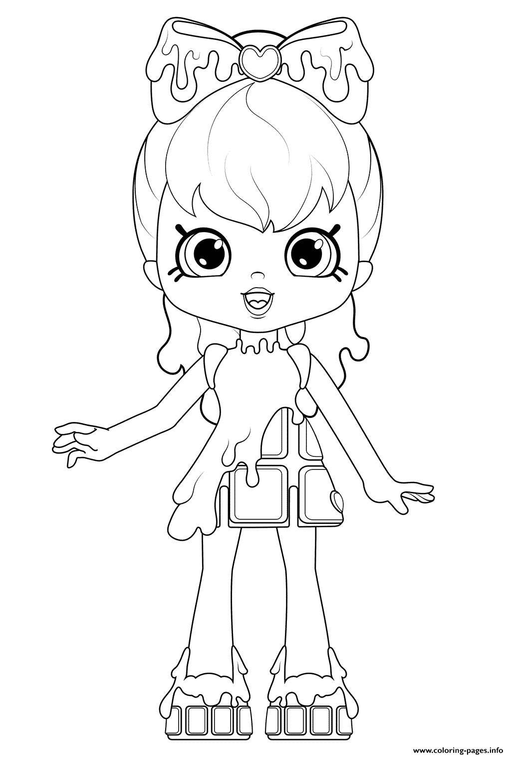 Cocolette Shopkins Doll Coloring Pages Printable